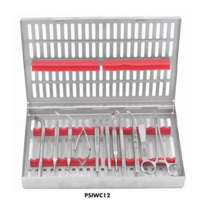 Picture of Perio Surgical Instruments set of 12(With Cassette)