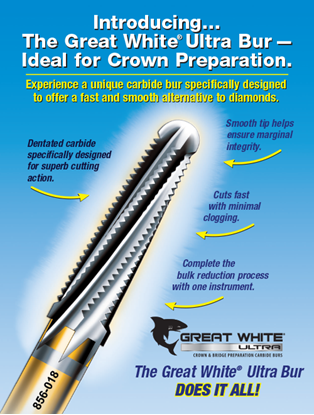 Picture of SS WHITE GREAT WHITE ULTRA CROWN PREP BURS