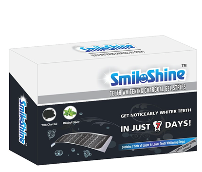 Picture of SmiloShine Teeth Whitening Charcoal Gel Strips