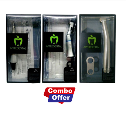 Picture of Appledental Contra Angle Handpiece + Straight Handpiece + Push Button Handpiece(A1) Combo Offer