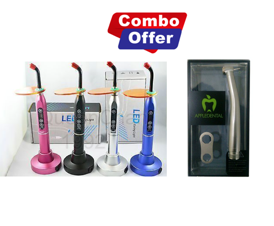 Picture of Combo of Metal LED Light Curing Device  + Appledental Super Torque Push button Handpiece (A1)