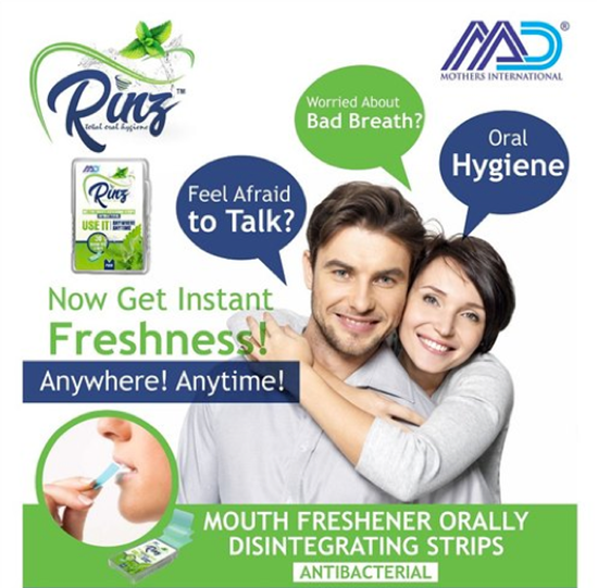 Picture of Rinz Mouth Refreshing Strips (Antibacterial) - 300 strips in 1 box