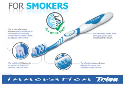 Picture of Trisa ToothBrush - For Smokers Medium