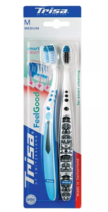 Picture of Trisa ToothBrush - Feel good Smart Clean Duo Medium
