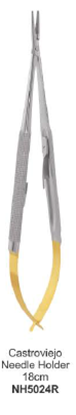 Picture of MICRO SURGERY INSTRUMENTS- Castroviejo Needle Holder TC # Straight (18cm) NH5024R
