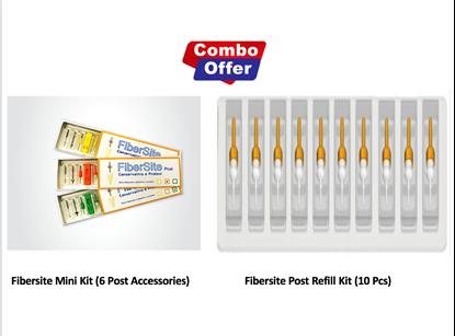 Picture of Combo of Fibersite Mini Kit  (6 Post Accessories) + Refill Kit (10 pcs) - 2mm