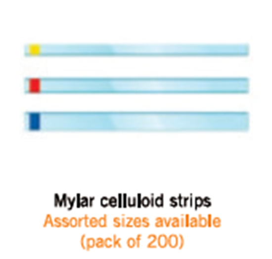 Picture of Mylar Celluloid strips