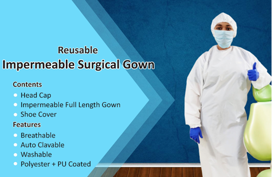 Picture of Reusable Impermeable Surgical Gown