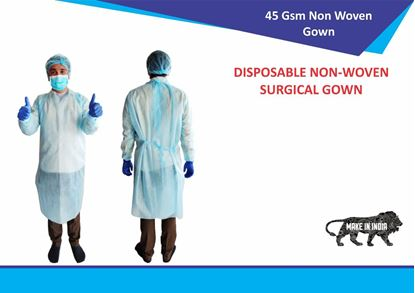 Picture of 40 GSM Disposable Non woven Surgical Gown