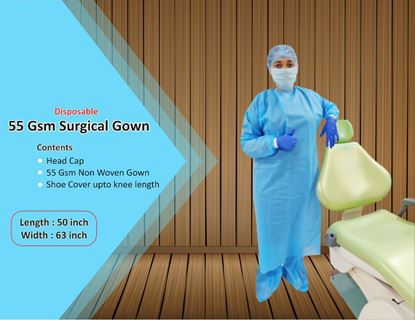 Picture of 55 GSM Disposable Non Woven Surgical Gown
