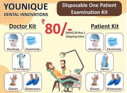 Picture of Disposable one Patient Examination Kit - Doctor & Patient Kit