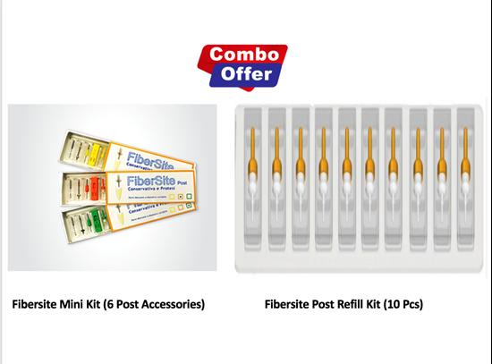 Picture of Combo of Fibersite Mini Kit  (6 Post Accessories) + Refill Kit (10 pcs) - 4mm