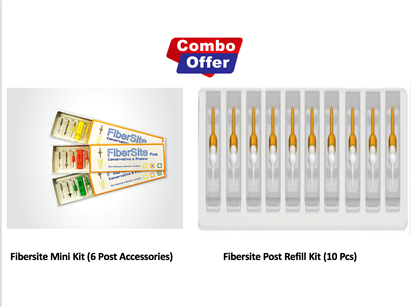Picture of Combo of Fibersite Mini Kit  (6 Post Accessories) + Refill Kit (10 pcs) - 5mm