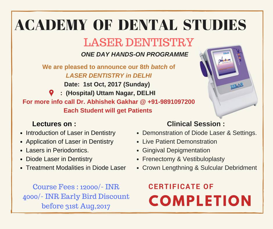 Academy of Dental Studies Laser Dentistry