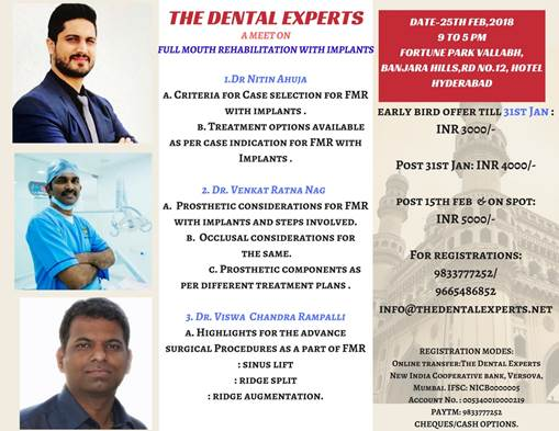 THE DENTAL EXPERTS MEET ON FULL MOUTH REHABILITATION WITH IMPLANTS