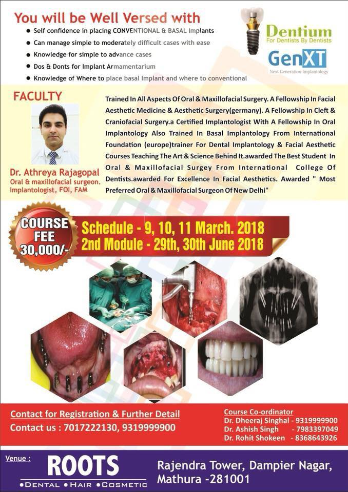 Conventional and Basal Implantology ( Hybrid Course )