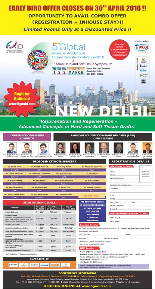 5 Global American Academy of Implant Dentistry Conference 2019