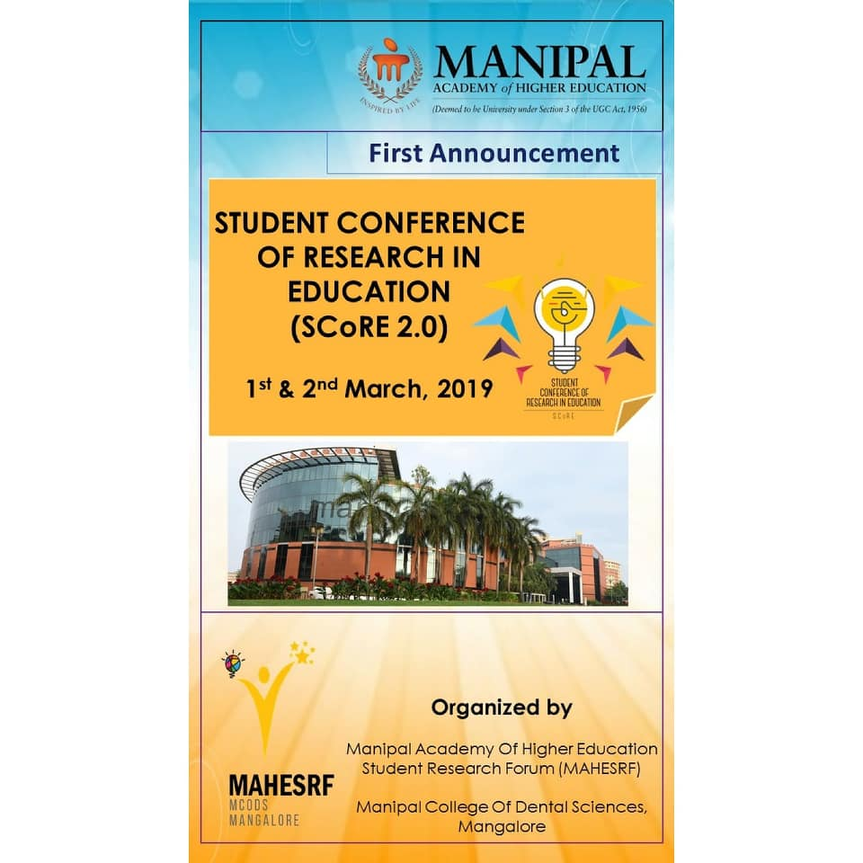 STUDENT CONFERENCE OF RESEARCH IN EDUCATION (Score 2.0)