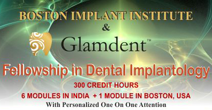FELLOWSHIP IN ORAL IMPLANTOLOGY From BOSTON, USA