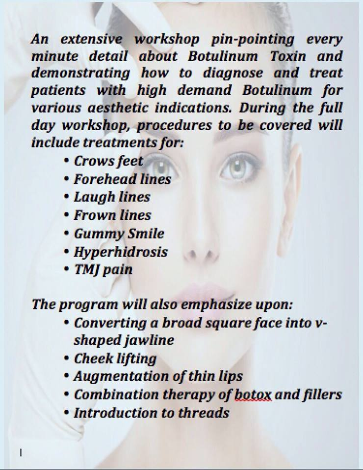 One-day course with hands on and clinical training on patients