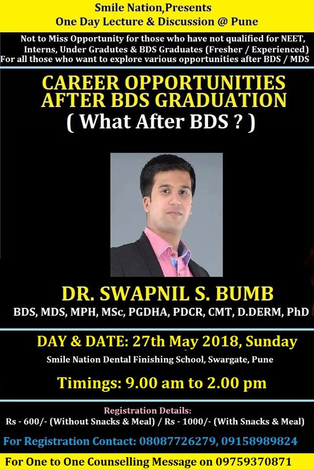 "One Day Lecture & Discussion for Topic ""Career Opportunities After BDS Graduation"""