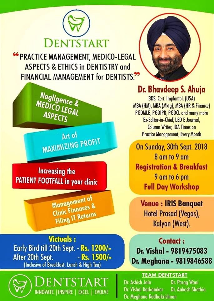 Practice Management,Medico Legal Aspects and Ethics in Dentistry and Financial Management for Dentis