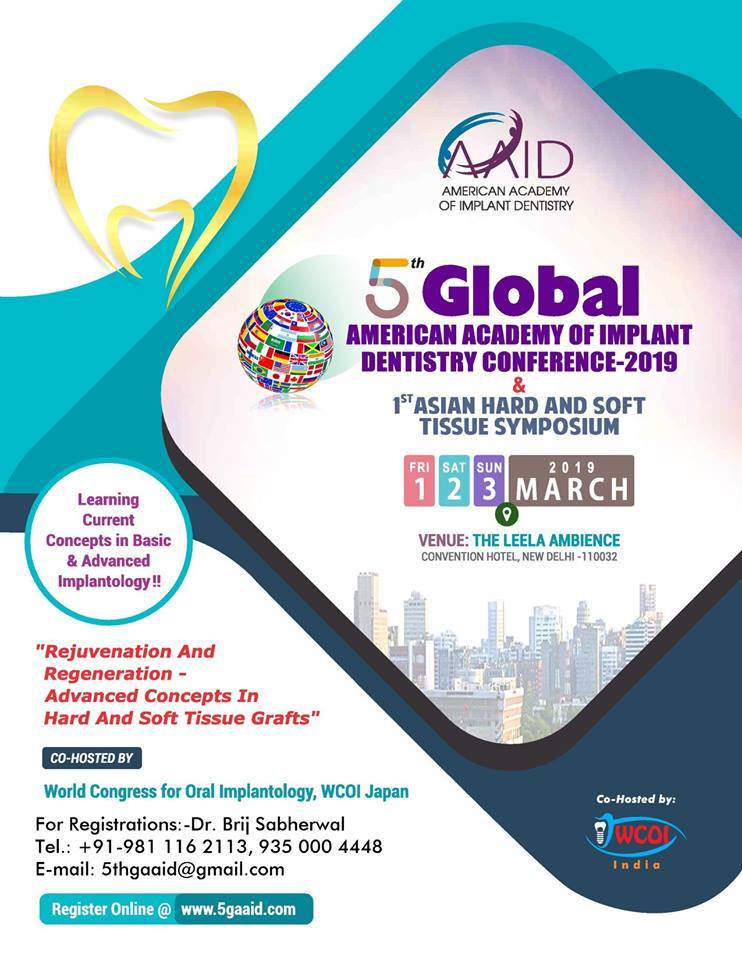 5th Global American Academy of Implant Dentistry Conference & 1st Asian Hard and Soft Tissue Symposi