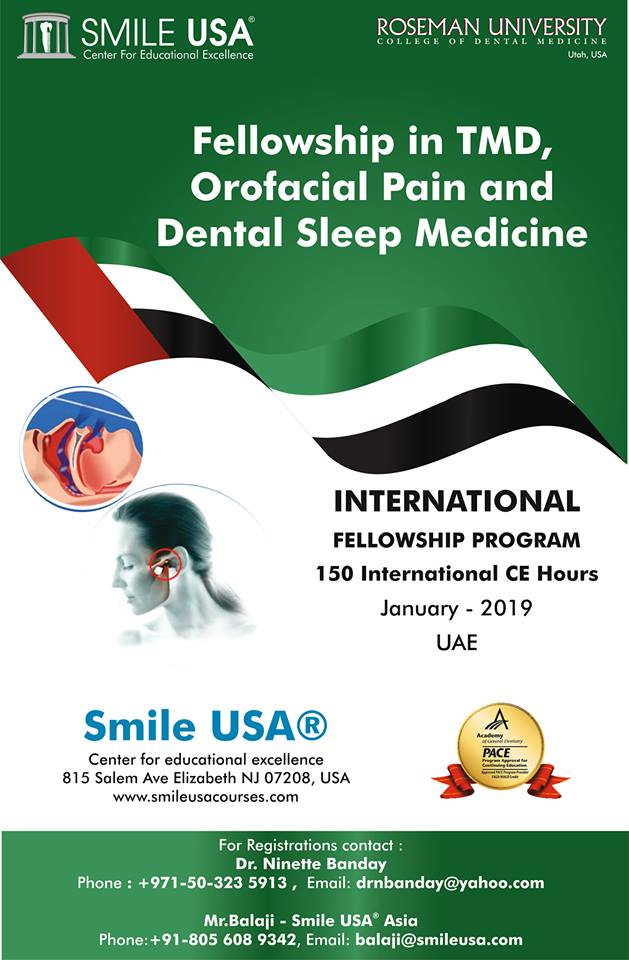 Fellowship in TMD, Orofacial Pain and Dental Sleep Medicine