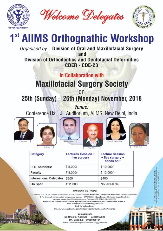 1st AIIMS Orthognathic Workshop