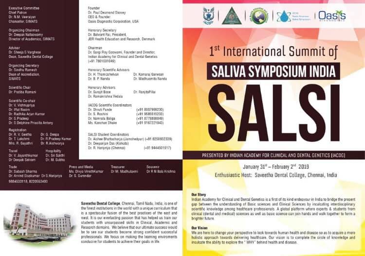 1st International Summit Of Saliva Symposium India SALSI