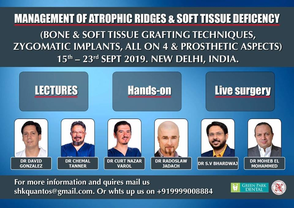 Management Of Atrophic Ridges & Soft Tissue Deficency