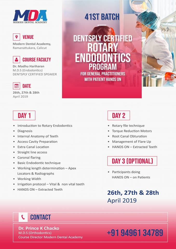 DENTSPLY CERTIFIED ROTARY ENDODONTICS PROGRAM