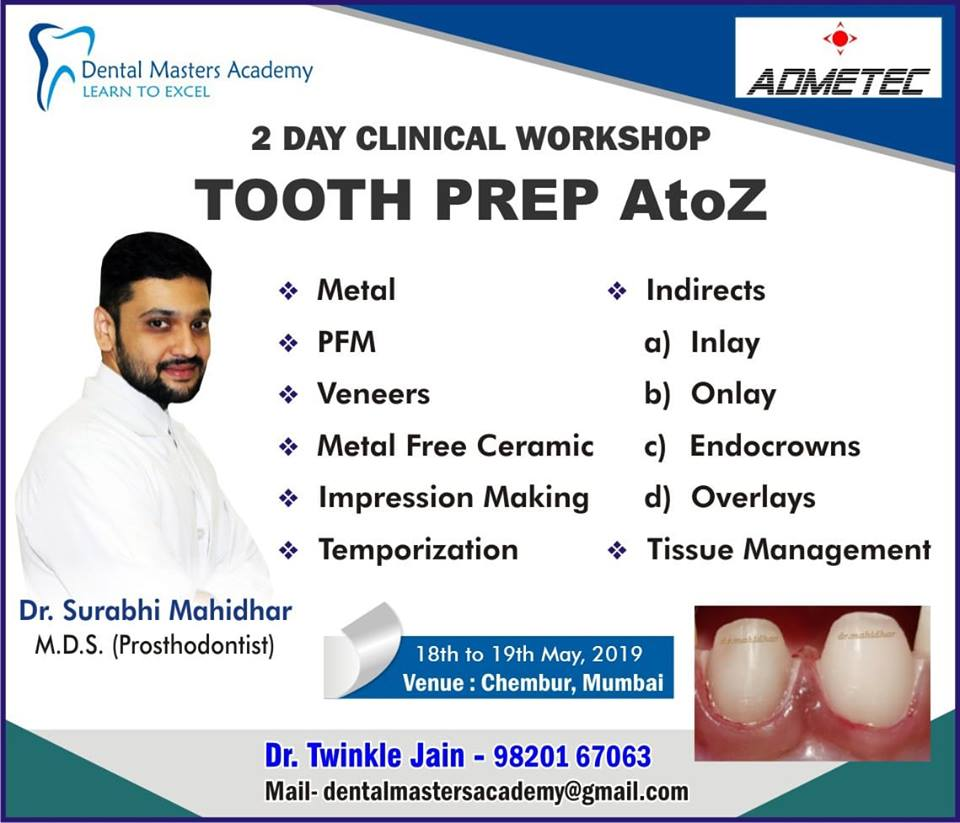 2 day Clinical Workshop TOOTH PREP A to Z