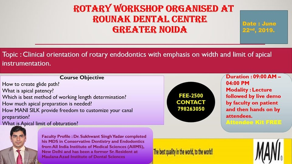 Clinical Orientation Of Rotary Endodontics With Emphasis On Width & Limit Of Apical Instrumentation