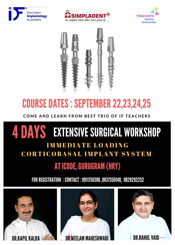 4 DAYS EXTENSIVE SURGICAL WORKSHOP