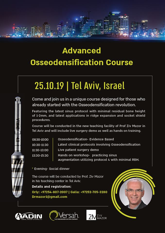 Advanced Osseodensification Course