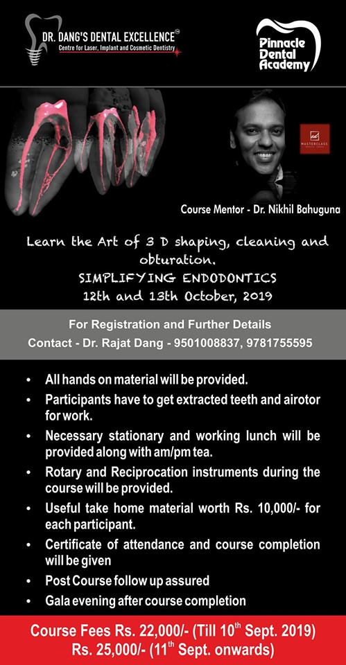 Learn The Art Of 3 D Shaping , Cleaning And Obturation - Simplifying Endodontics