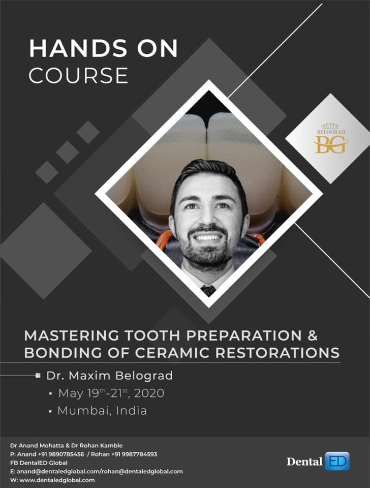 Hand On Course Mastering Tooth Prepartion & Bonding Of Ceramic Restorations
