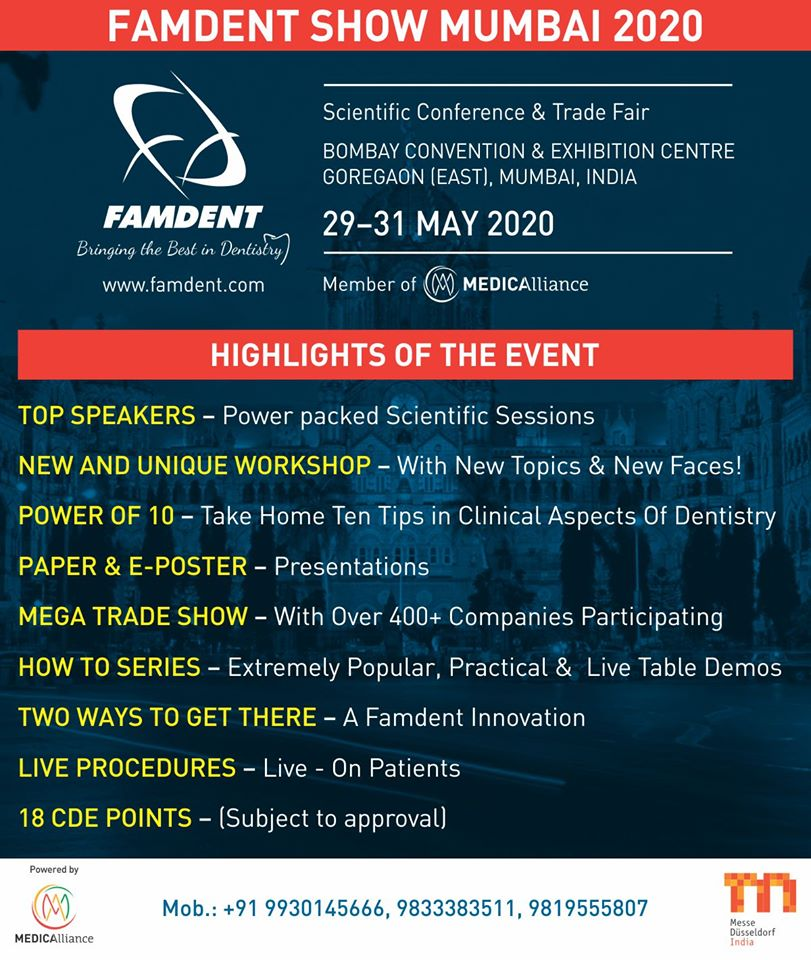 India's PRemier Conference & Trade Show FOr PRogressive Clinical Dentistry