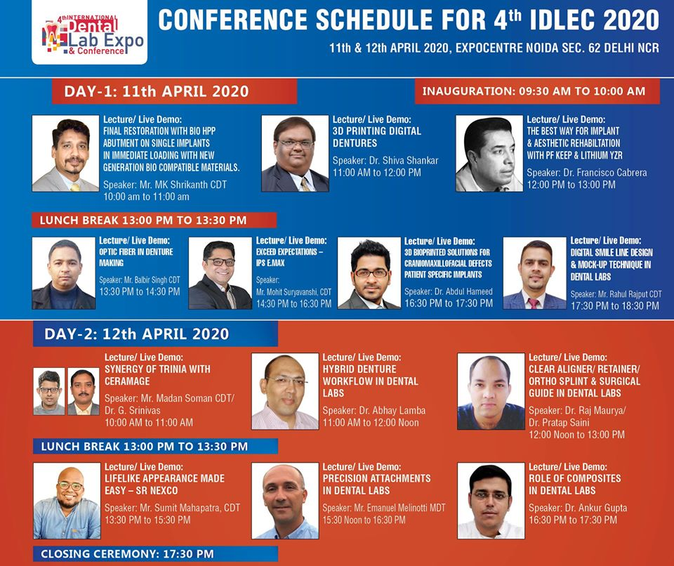Conference Shedule For 4th IDLEC 2020