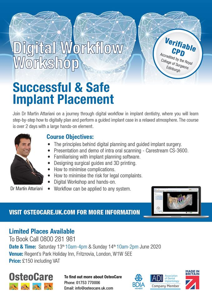 Digital Workflow Workshop Successful & Safe Implant Placement