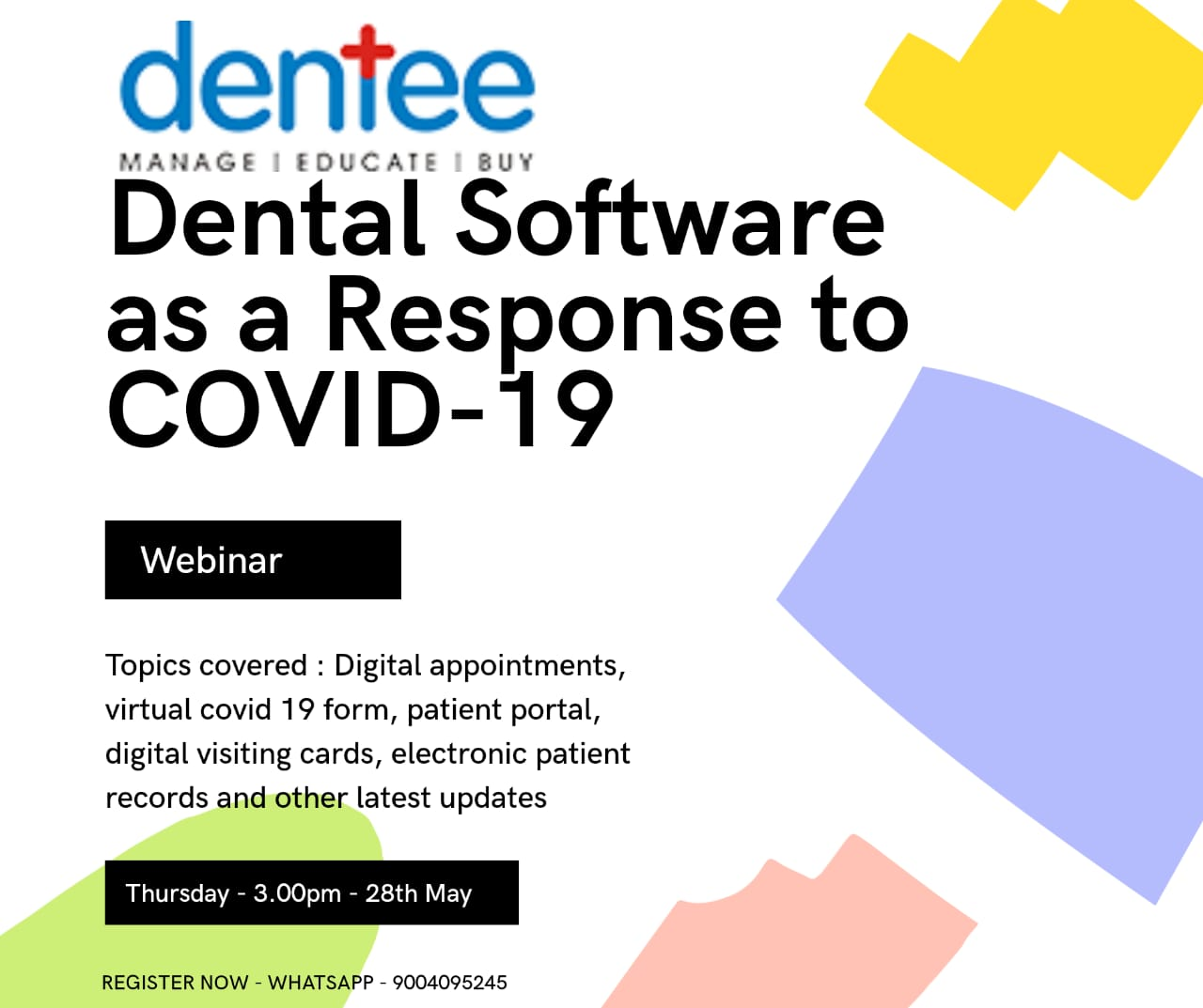 Dental Software as a response to COVID-19