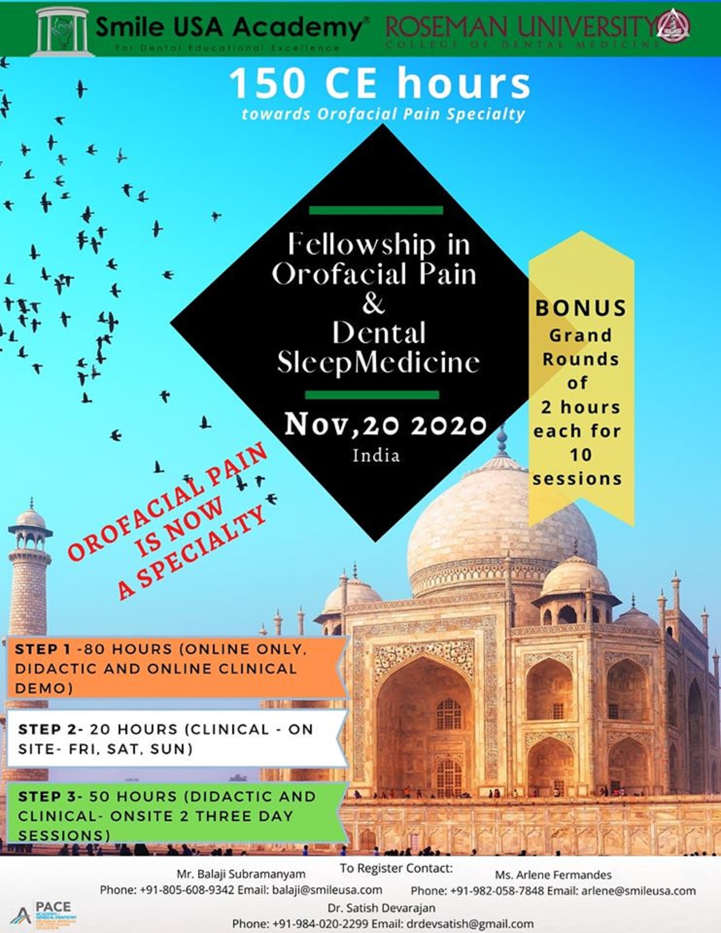 Fellowship in Orofacial Pain & Dental Sleep Medicine